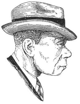 """Modernized Neanderthal, based on Prof. J. Howard McGregor's classic reconstruction of """"Old Man of la Chapelle's"""" skull, the bust of which was created for display in the American Museum of Natural History around 1918. Originally published in Carleton Coon's (1939) The Races of Europe. Although often attributed to Coon, it is not clear whether the drawing is by Coon or McGregor."""